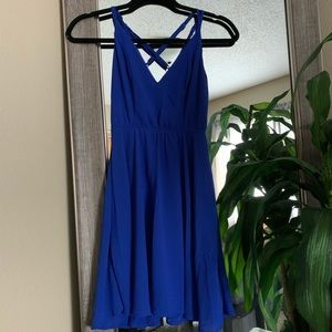 ✨ Charlotte Russe | Blue Backless Dress, Size XS
